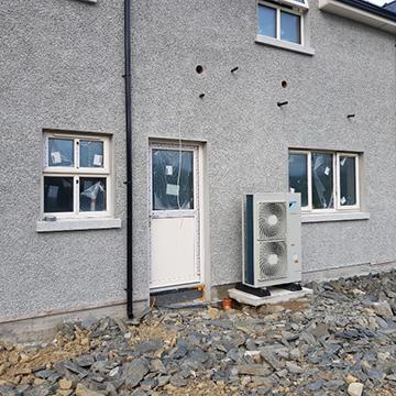 residential heatpump installation | NRG Panel