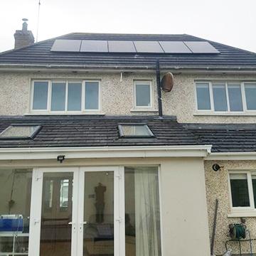 Solar roof panel installation | NRG Panel