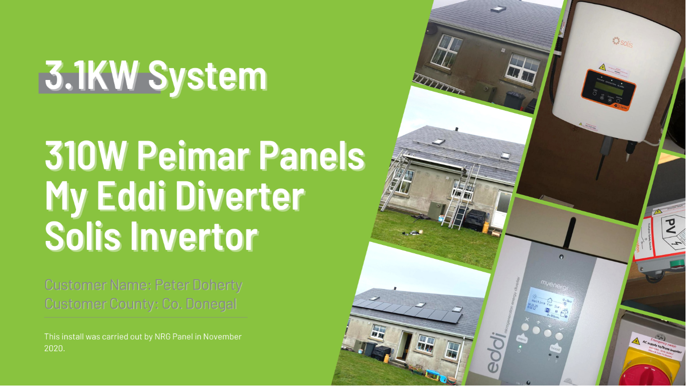SOLAR PANELS DONEGAL – CASE STUDY 2021 – PETER DOHERTY - NRG PANEL