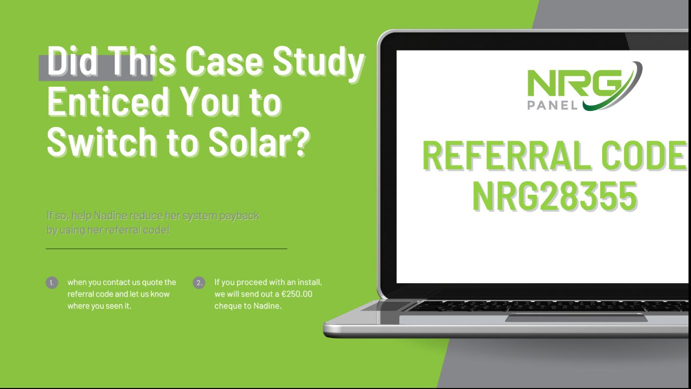 SOLAR PANELS GALWAY – CASE STUDY 2021 – NADINE SWORDS - NRG PANEL 3