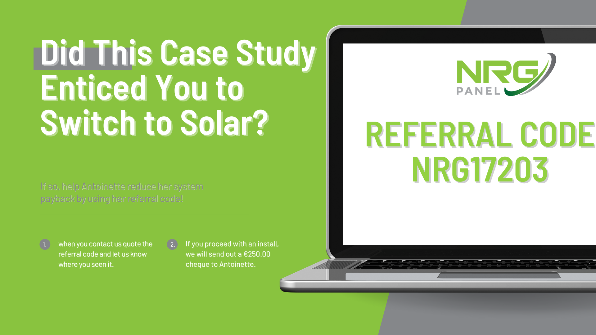 Case Study - Solar Panel Install Co. Laois - NRG Panel - #1