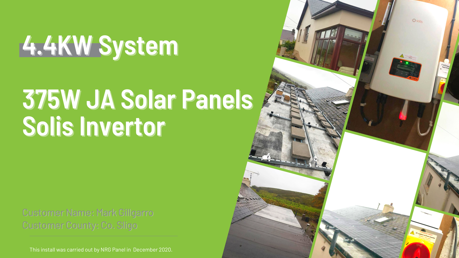 Case Study - Solar Panel Install Co. Sligo - NRG Panel - #1